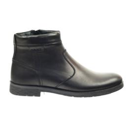 Riko botines de hombre con cremallera 825 negro.