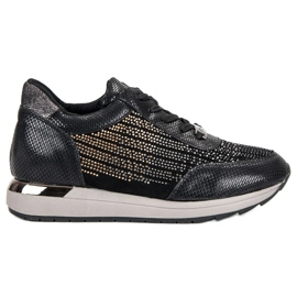 Kylie Calzado deportivo de moda negro