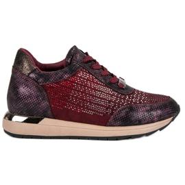 Kylie Calzado deportivo de moda rojo