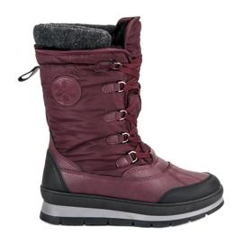 Mckeylor rojo Botas de nieve borgoña de moda