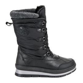 Mckeylor negro Botas de nieve negras de moda