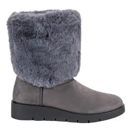 Kylie Calzado de moda de invierno gris