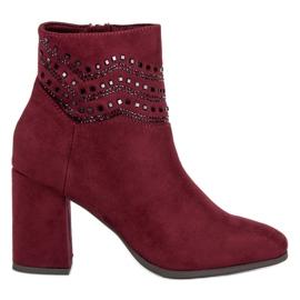 Kylie Elegantes botas burdeos