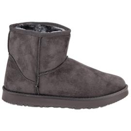 Kylie gris Botas de nieve deslizantes