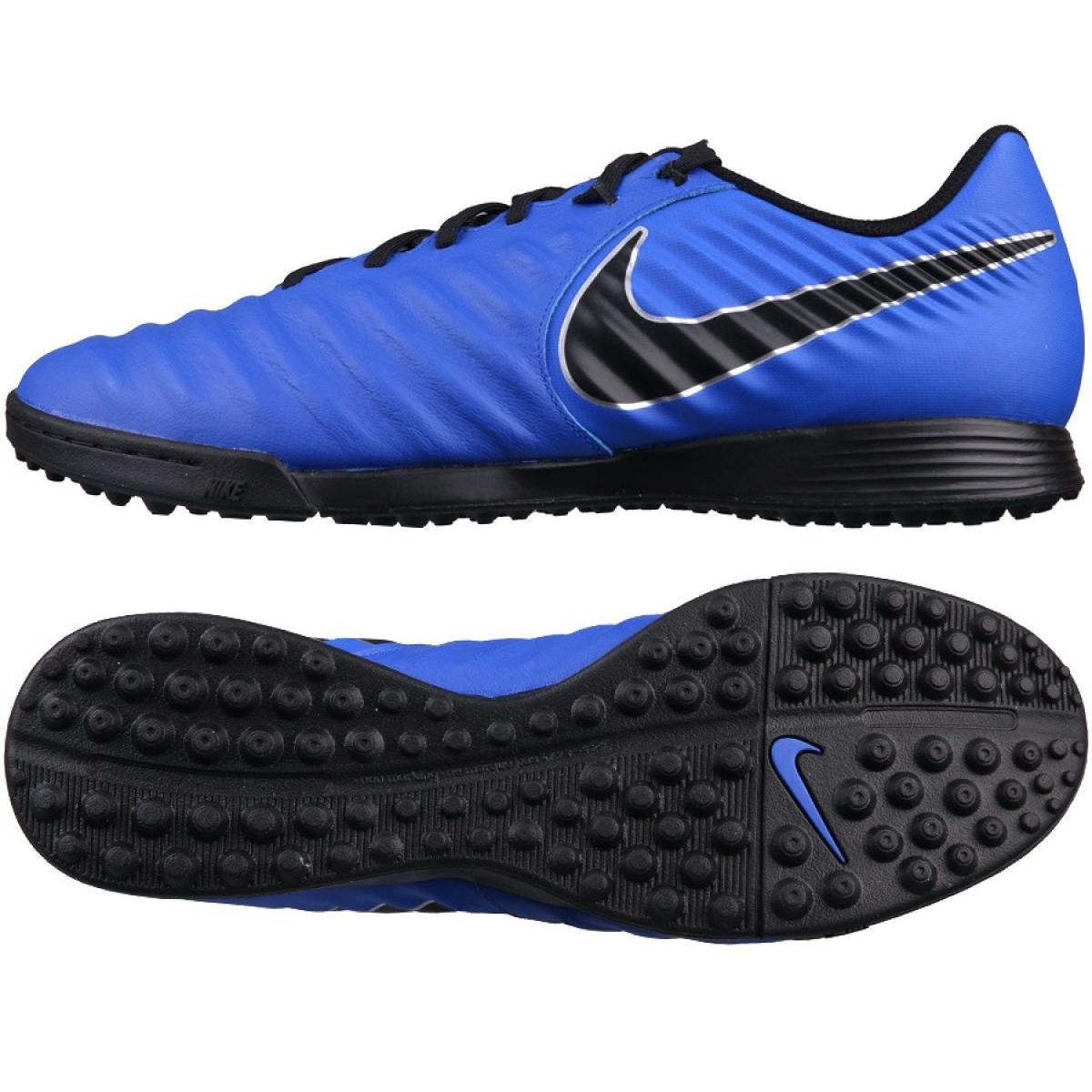 Zapatillas de fútbol Nike Tiempo LegendX 7 Academy Tf M AH7243 400 azul marino azul
