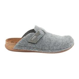 Zapatillas de fieltro abrochadas Inblu TH014 gris.