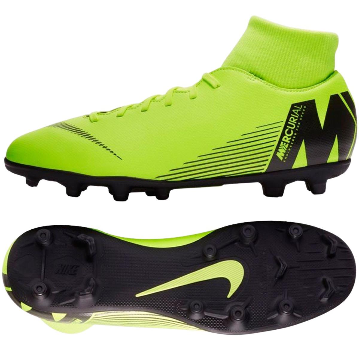 Zapatillas de fútbol Nike Mercurial Superfly 6 Club Mg M AH7363 701 verde verde