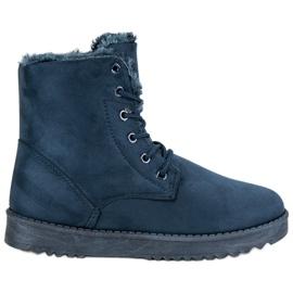 Forever Folie azul Zapatos de gamuza caliente