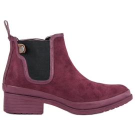 Kylie Botines botas jodhpur rojo
