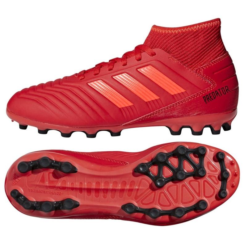 Botas de fútbol adidas Predator 19.3 Jr D98005 rojo rojo