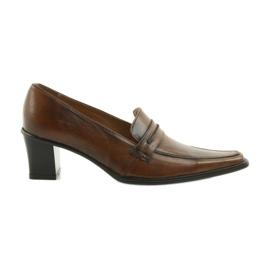 Zapatos de cuero Eksbut 864 marrón