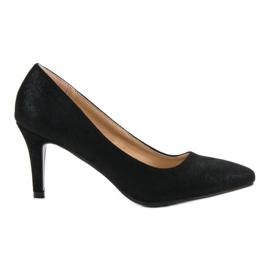 Zapatos brocado de vinceza negro