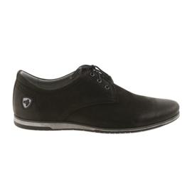 Negro Riko zapatos de tacones bajos 877