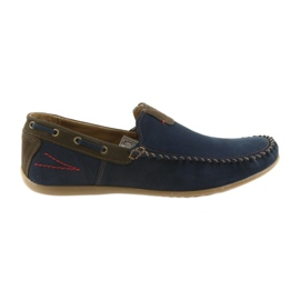 Zapatillas mocasín riko hombres azul 781