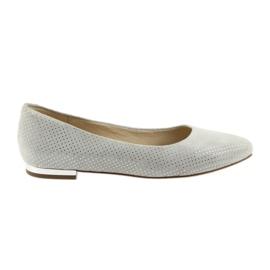 Zapatillas bailarinas caprice para mujer 22104 gris