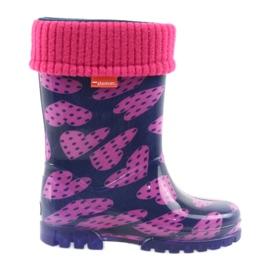 Demar botas de goma para niños calcetines calientes corazones