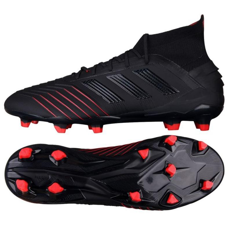 Botas de fútbol adidas Predator 19.1 Fg M BC0551 negro negro