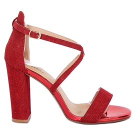 Sandalias en el post rojo NC791 Red