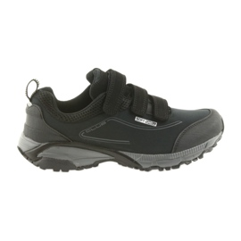American Club Zapatillas deportivas para mujer ADI con velcro softthell americano impermeable WT08 / 19 negro