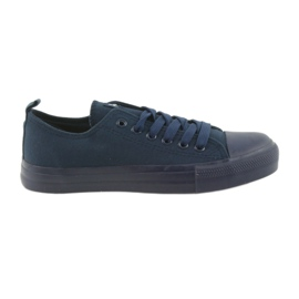 Marina Zapatos de hombre zapatillas atadas azul del American Club LH05.