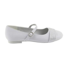 American Club blanco Bombas de zapatos infantiles Comunión Bailarinas pedrería Club Americano 11/19.