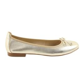 Amarillo Zapatillas bailarinas caprice doradas para mujer 22102