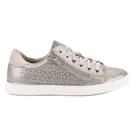 Kylie Zapatillas casuales de plata gris