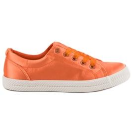 Kylie Zapatillas de satén naranja