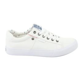 Blanco Zapatillas Big Star para hombre atadas blancas 174097.