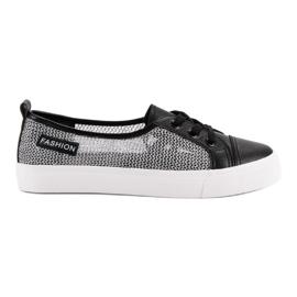 Negro Zapatillas de deporte de malla MCKEYLOR