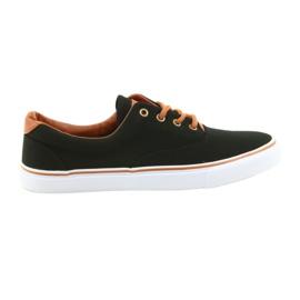 American Club Zapatos de hombre zapatillas negras LH03.