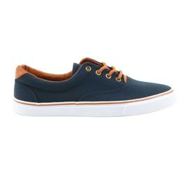 American Club Zapatillas de hombre azul marino anudadas LH03