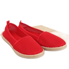 Rojo Alpargatas con malla roja JX1029 roja