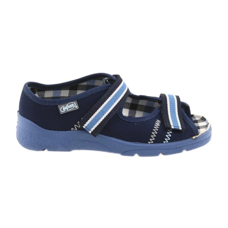 Sandalias zapatos infantiles Velcro Befado 969x101 azul marino