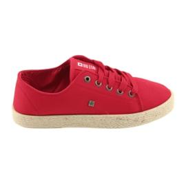 Bailarinas alpargatas Calzado mujer rojo Big star 274424