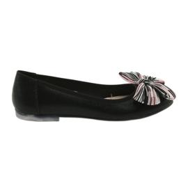 Negro Zapatillas bailarinas de mujer con lazo Sergio Leone 605.