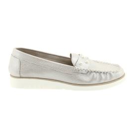 Sergio Leone Mocasines zapatos mujer perla beige