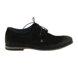 Zapatos de gamuza hombre Nikopol 1709 negro.