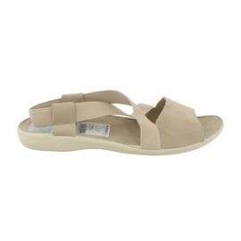 Sandalias para mujer Adanex 17495 beige. marrón