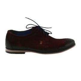 Zapatos de gamuza de hombre Nikopol 1709 color burdeos.