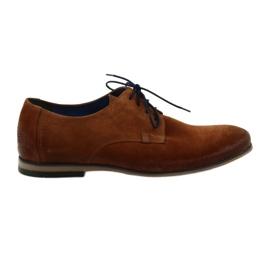 Zapatos de gamuza hombre Nikopol 1709 Camel suede