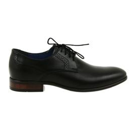 Zapatos formales de salón para hombre Nikopol 1695 negro.