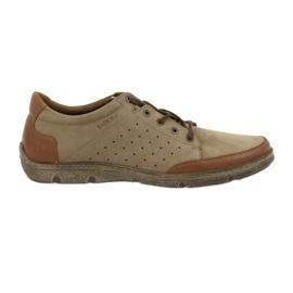 Zapatos de hombre Badura 3524 beige / marrón.