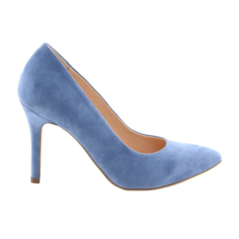 Bombas en un pin zapatos de mujer Edeo 3313 azul