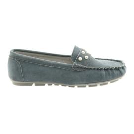 Zapatillas mocasines Filippo gris para mujer.