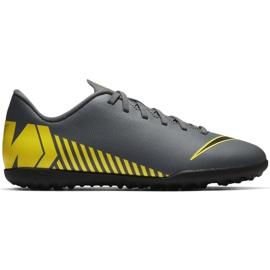 Zapatillas de fútbol Nike Mercurial Vapor X 12 Club Tf Jr AH7355-070 gris