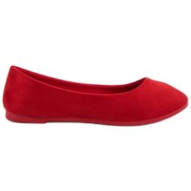 Vices VICE de bailarina roja de ante rojo