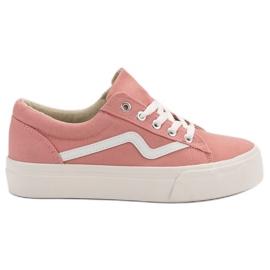 Kylie Zapatillas de moda de color rosa