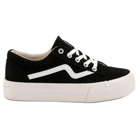 Kylie Zapatillas de deporte negras de moda negro