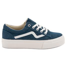 Kylie Zapatillas de moda de jeans azul